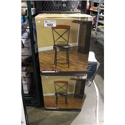 PAIR OF 26 INCH COUNTER HEIGHT BAR STOOLS