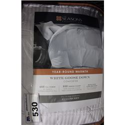 WHITE GOOSE DOWN QUEEN SIZED COMFORTER