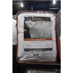 WHITE GOOSE DOWN 500 THREAD COUNT COMFORTER