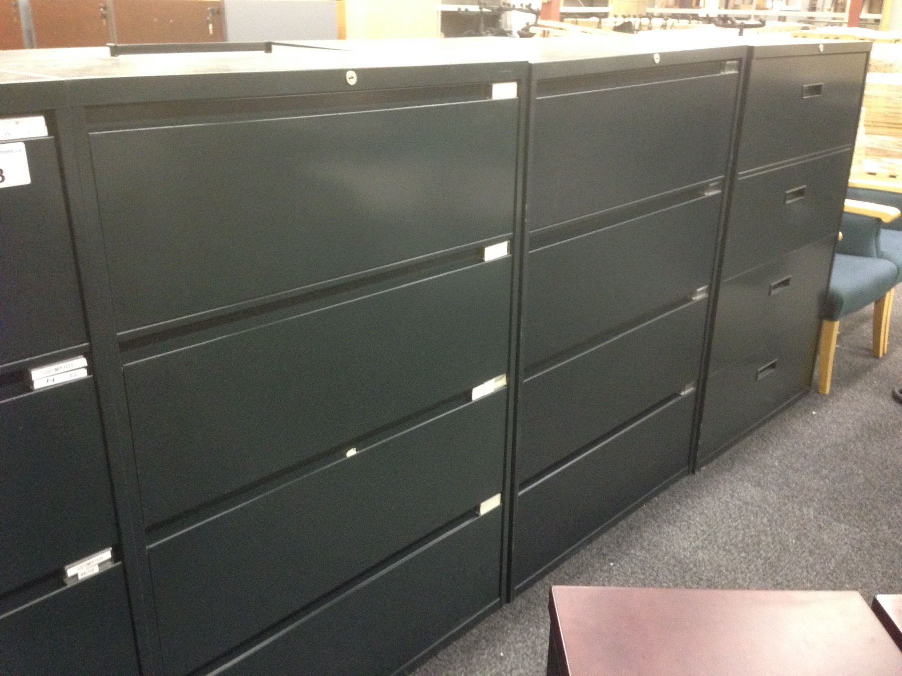 Forest Green 4 Drawer Lateral File Cabinet