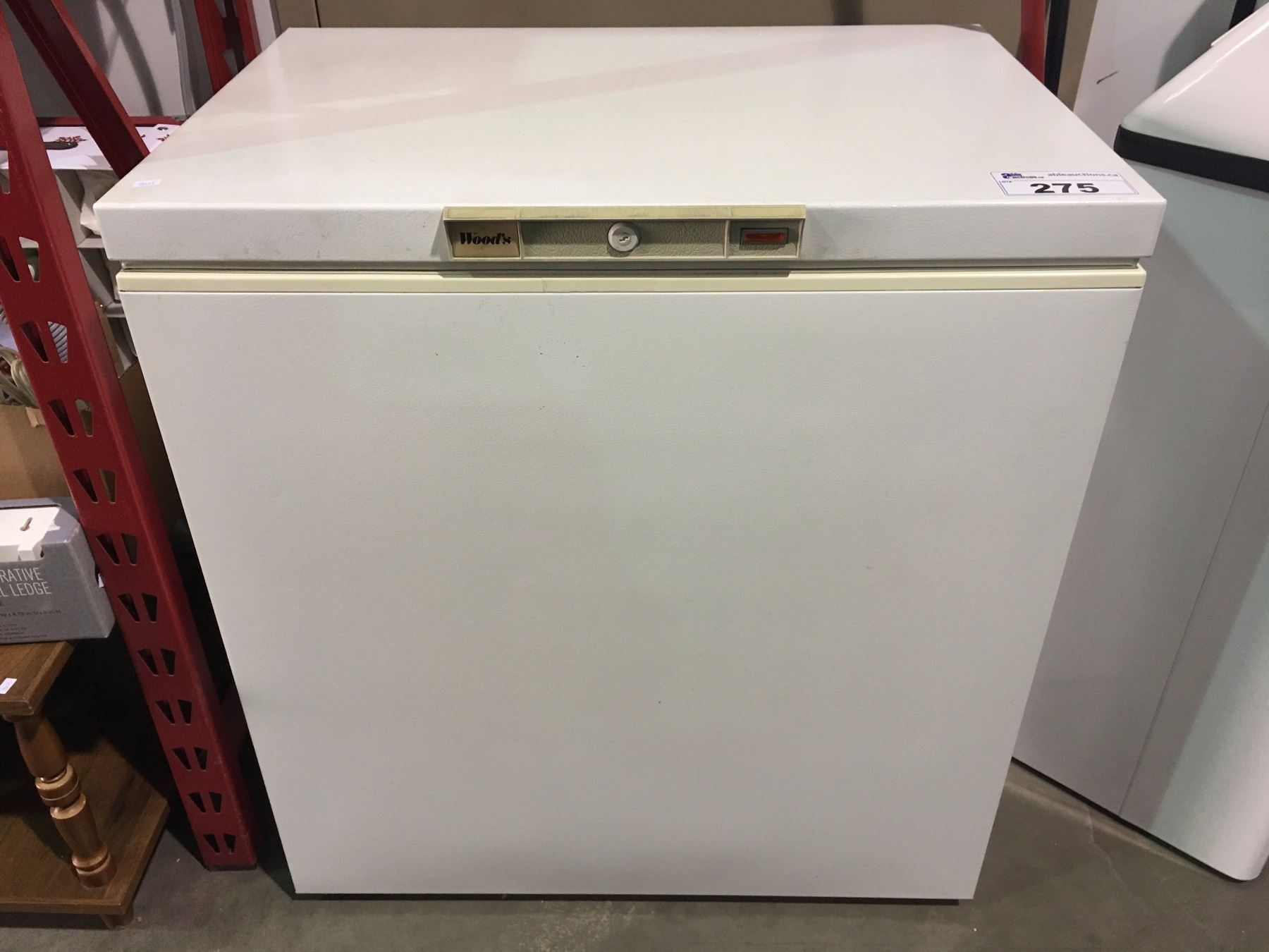 WOODS SMALL WHITE APARTMENT SIZE FREEZER
