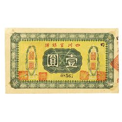 Official Bank of Sichuan Province 1 Yuan. _______