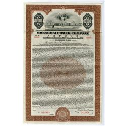 "Shanghai Telephone Co., 1934 Specimen $10,000 ""Dollar Series"" Coupon Bond"