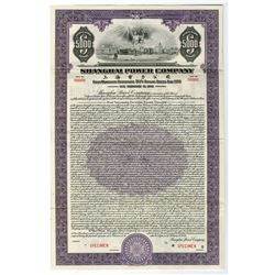 "Shanghai Telephone Co., 1934 Specimen $5,000 ""Dollar Series"" Coupon Bond"