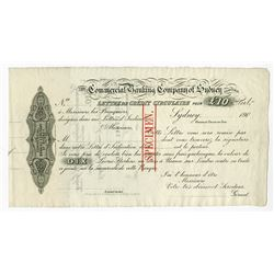 Australia, Commercial Banking Company of Sydney, Ltd., 190x (1906), Specimen Letter of Credit.