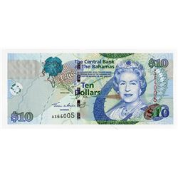 Central Bank of the Bahamas, 2005, $10 Issued Banknote.