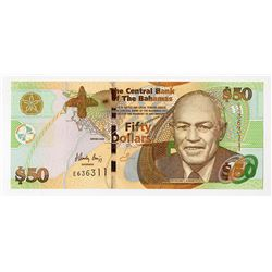 Central Bank of the Bahamas, 2008, $50 Issued Banknote.