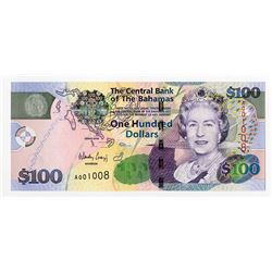 Central Bank of the Bahamas, 2009, $100 Issued Banknote.