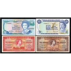 Bermuda Government & Monetary Authority, 1957-88, Quartet of Issued Notes