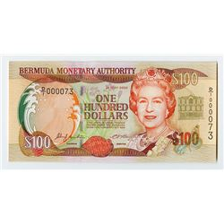 Bermuda Monetary Authority, 2000 Issued $100 Banknote.