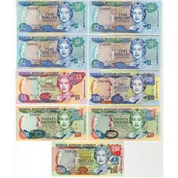 Bermuda Monetary Authority, 24 May 2000, Complete Issued Set.