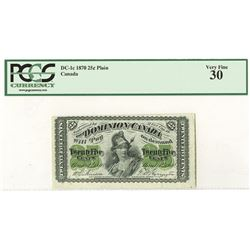 Dominion of Canada, 1870 Issue Banknote.