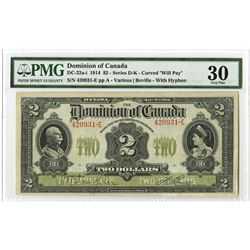 Dominion of Canada, 1914 Issue Banknote.