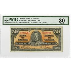 Bank of Canada, 1937 Issue Banknote.