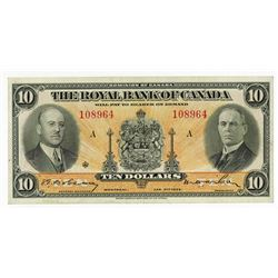 Royal Bank of Canada, 1935 Issue Banknote.