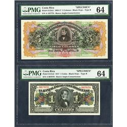 Banco Anglo Costarricense, 1903, 1917 issues.