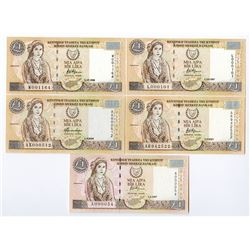 Central Bank of Cyprus. 1997-2004 Issues.