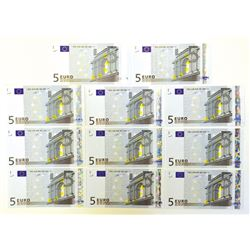 European Union, European Central Bank. 2002 First Issue Complete Set.