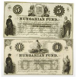 Independent Hungarian Government, 1852 Issue.
