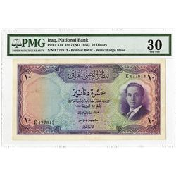 National Bank of Iraq, L. 1947 (1955), Issued King Faisal II Note