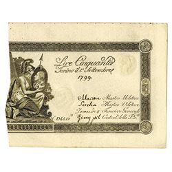 Kingdom of Sardinia, 1799, Issued High Grade Note