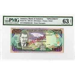 Bank of Jamaica, 1993 Specimen Banknote.