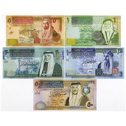 Central Bank of Jordan, 2011-2014, Issued Matching Low Serial Number Set
