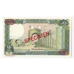 Banque du Liban, 1987, Specimen Note