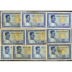 Banque de la Republique du Mali. First 1960 dated issue Assortment.