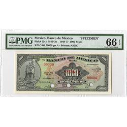 Banco De Mexico, 1977 Specimen Banknote.