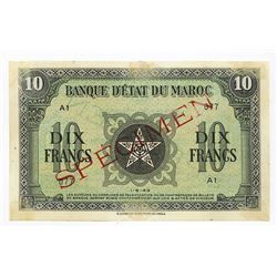 Banque d'Etat du Maroc, ND (ca. 1943), Specimen Note