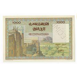 Banque d'Etat du Maroc, ND (ca. 1951), Specimen Note