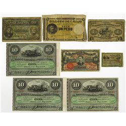 Caribbean, Central and South American, ca. 1869 to 1900 Banknote Assortment.