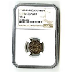 England: Edward III, 1327-1377, 1 Penny