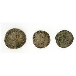 Modena: Francesco I d'Este, 1629-1658, Trio of Silver Coins