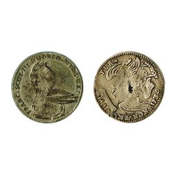 Modena: Francesco III d'Este, 1737-1780, Pair of Silver Coins