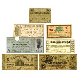 Various Issuers, 1862-1866, Group of 7 Issued Notes