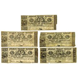 Arkansas Treasury Warrant, 1862 Banknote Assortment.