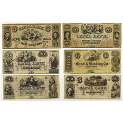 Canal Bank, Obsolete Banknote Assortment.
