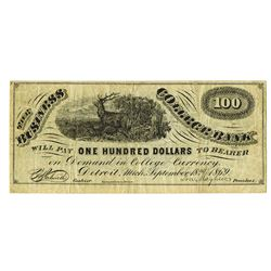 "Business College Bank, 1869, ""Issued"" Note"