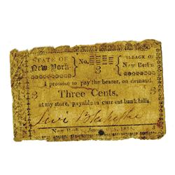 New York, 1815, Obsolete Fractional Note