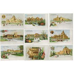 Official Souvenir Cards from St. Louis Worlds' Fair 1904