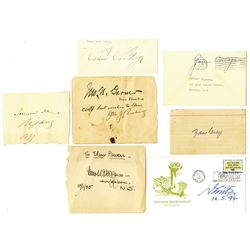 Collection of Autographs ca.1890-1960 Including Calvin & Grace Coolidge.
