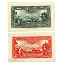Waterlow & Sons, Limited Advertising Note Pair, ca.1920-30's.