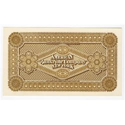 American Bank Note Company, ND ca.1860-70's Advertising Banknote Proof Back.