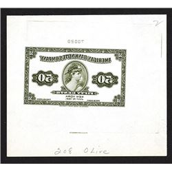 American Bank Note Company Mirror Image Advertising Banknote