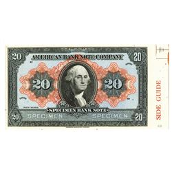 American Bank Note Company, ca.1910-30, George Washington Advertising Note.