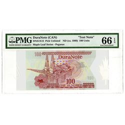 DuraNote (CAN), ND (ca.1980-90's) Pioneer Polymer Test or Sample Note.