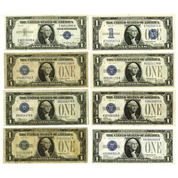 Silver Certificate, 1928-1935, Group of 8 Notes