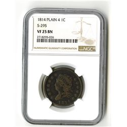 United States: Philadelphia Mint, 1814 1 Cent,